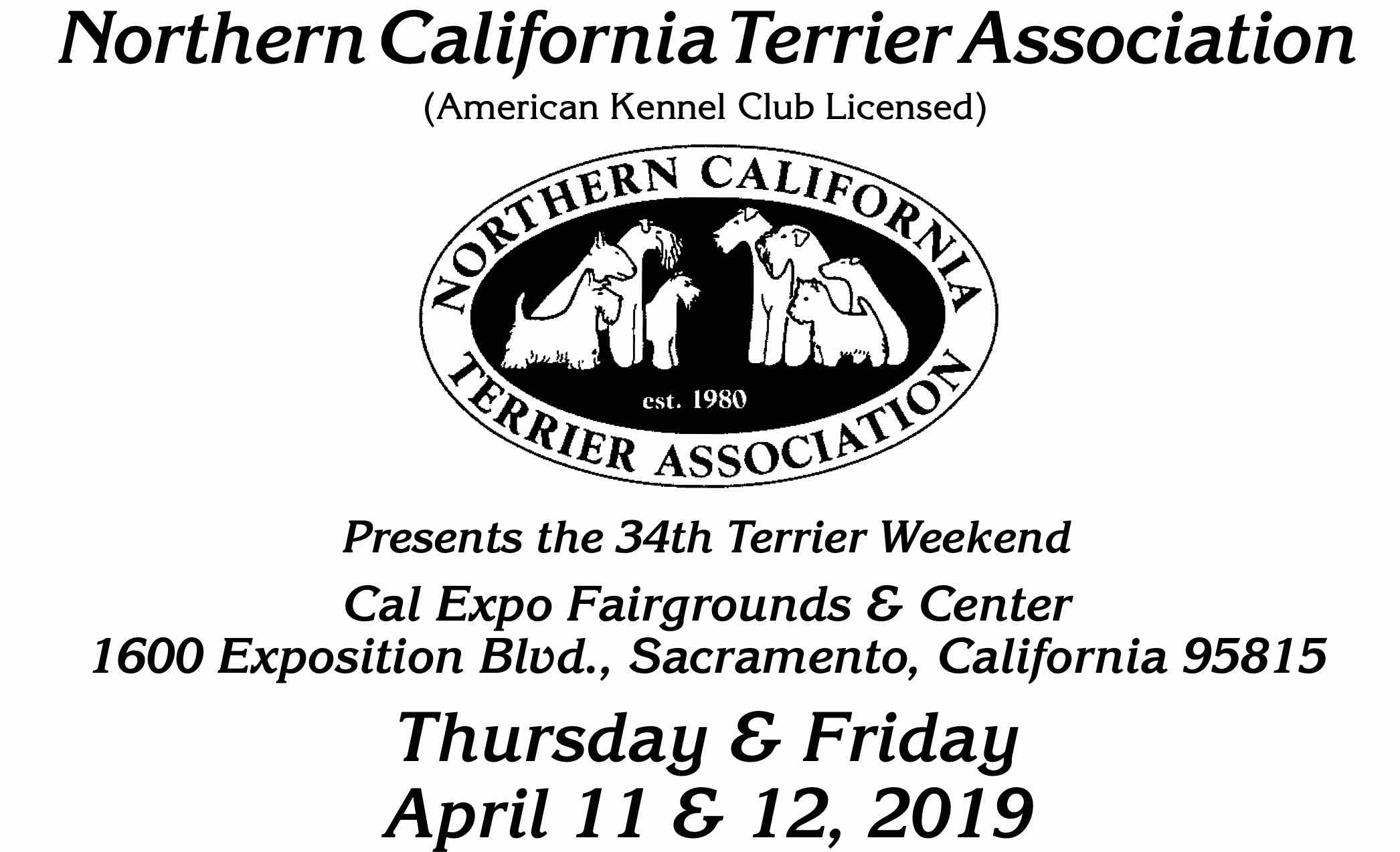 2019 Northern California Terrier Association premium list
