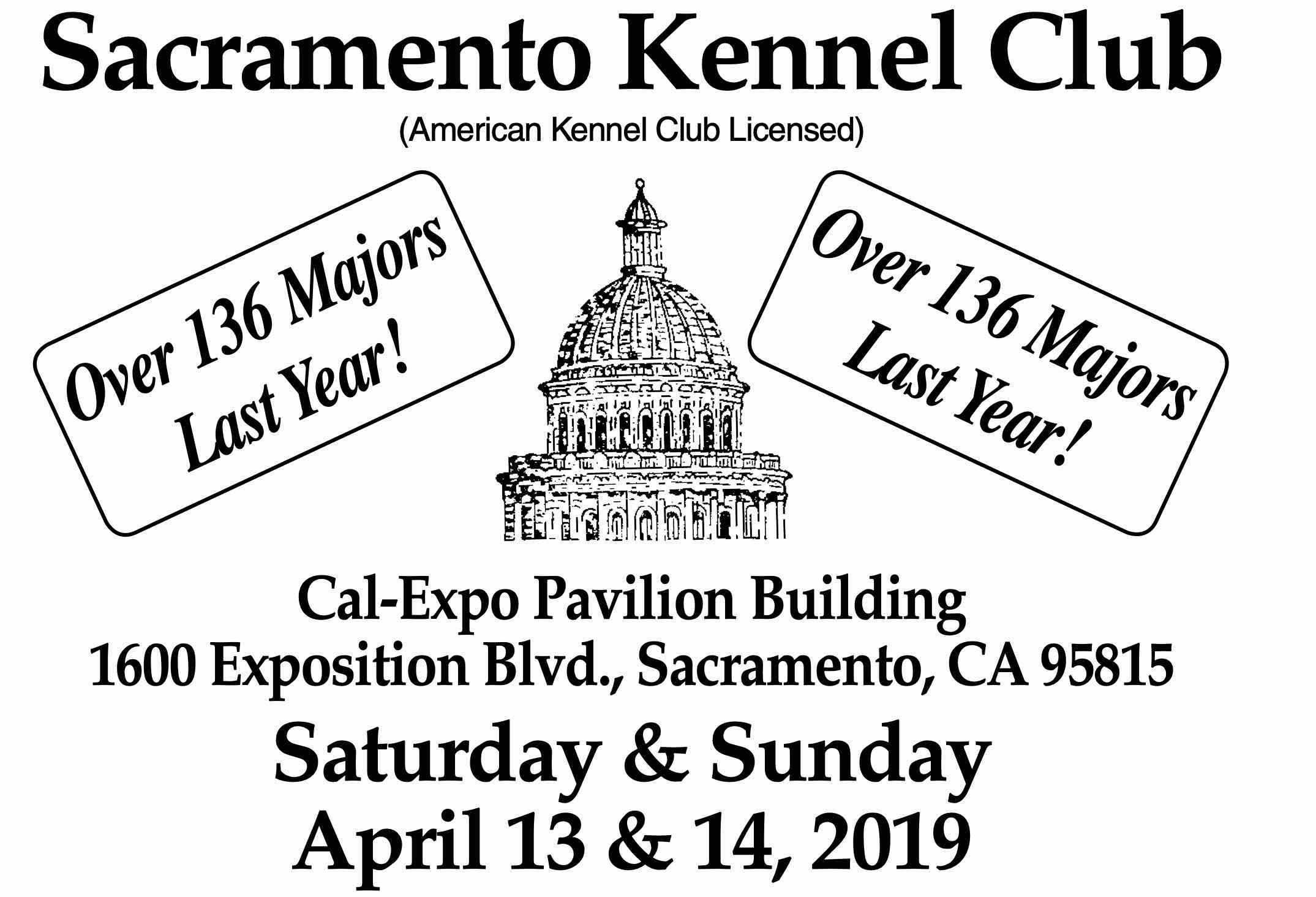 2019 Sacramento Kennel Club premium list